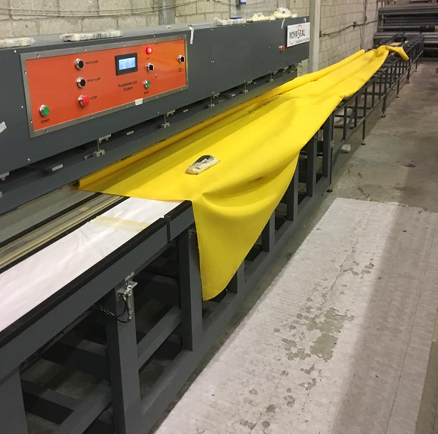 Awning Welder with 80-ft Track